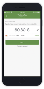 TheFork PAY payment step