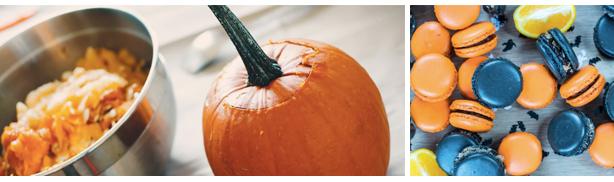 cooking with pumpkin macarons Halloween restaurant