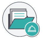 ícono base de datos captar clientes restaurante newsletter