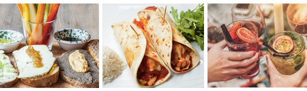 ideias brunch burrito mocktail e torradas