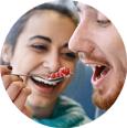 ElTenedor pareja comiendo en un restaurante locavore
