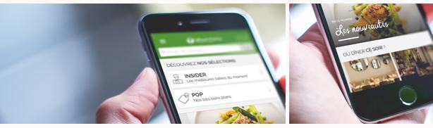 móvel aplicação TheFork encher mesas restaurante