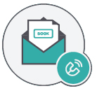 Envelope icon with letter attract customers restaurant newsletter
