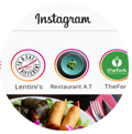 Instagram stories. Promote restaurant Instagram