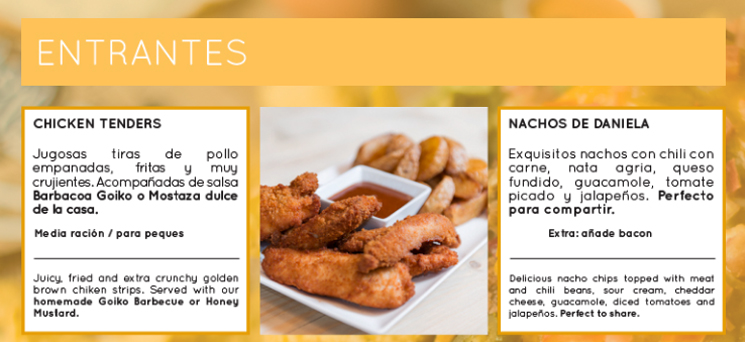 ElTenedor trucos de marketing para el menú de restaurantes - Goiko Grill carta