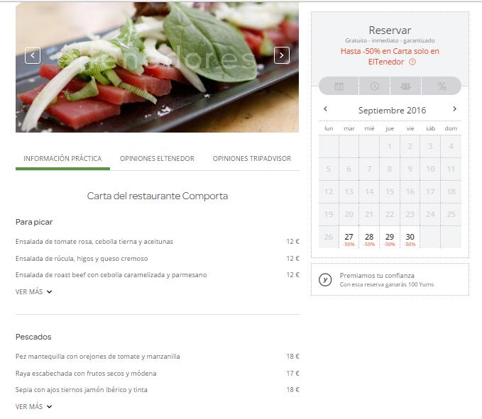 ElTenedor Marketing para restaurantes trucos para optimizar el menú y darle visibilidad - promociones de la carta en ElTenedor