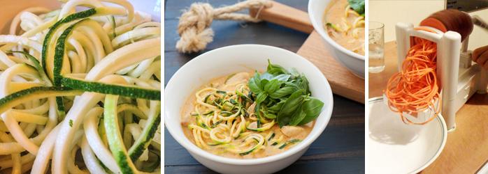 Iens restaurantmarketing noodle recepten gemaakt van courgette