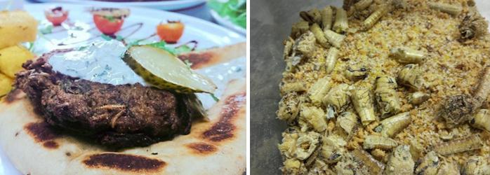 LaFourchette fidélisation clients avec assiettes de nourriture avec les insectes