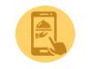 LaFourchette gestion de restaurants. Graphique graphique icône mobiles