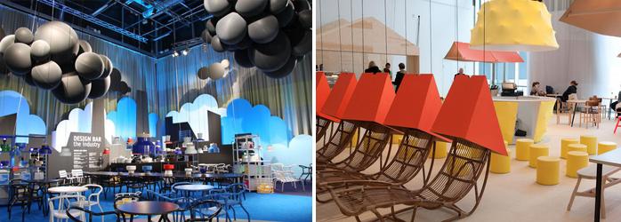 Il ristorante The design bar, è un esempio di come impostare un ristorante che utilizza i colori per aumentare il marketing. Tendenze del design 2016