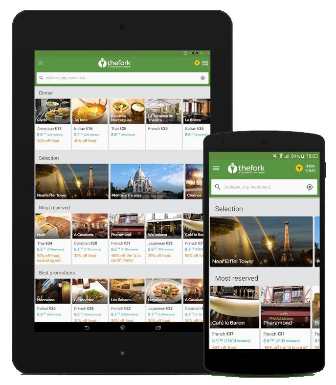 marketing de restaurantes - App TheFork