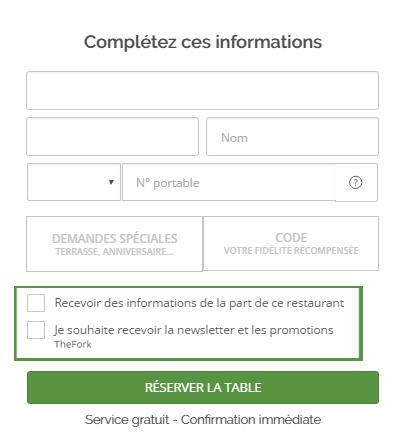 TheFork La base de données du logiciel de restaurant : une mine d'or graphique réservation en ligne