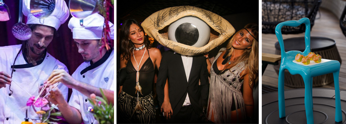 TheFork restaurantmarketing surrealistische sfeer van het restaurant Heart Ibiza