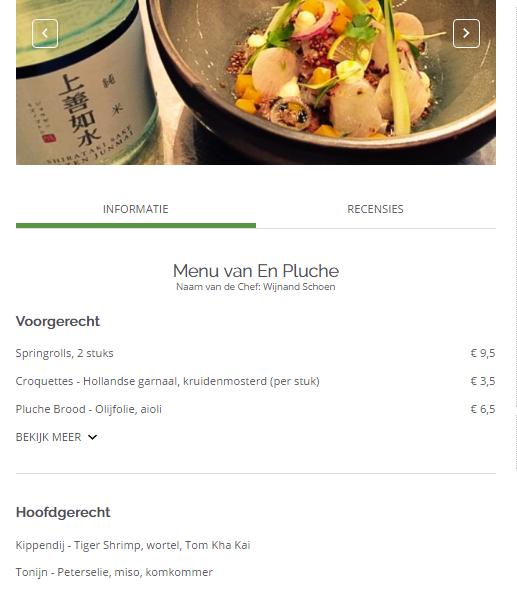 TheFork - restaurantmarketing - menukaart - en pluche