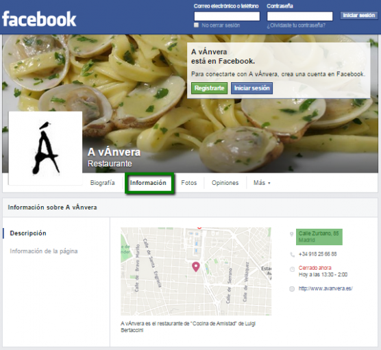 publicidad facebook restaurantes