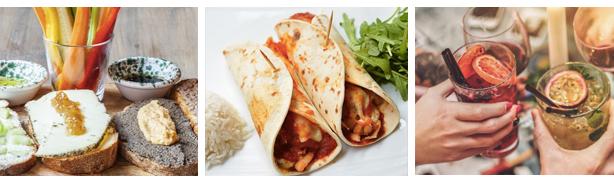brunch-ideeën toast, burrito's, mocktails