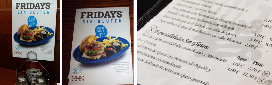 ElTenedor - atraer clientes restaurante Fridays carta sin gluten