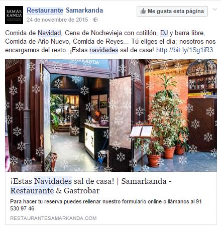 ElTenedor - Cómo captar clientes con menú de navidad - restaurante samarkanda