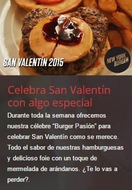 ElTenedor - Cómo llenar las mesas del restaurante en San Valentín - menú New York Burger