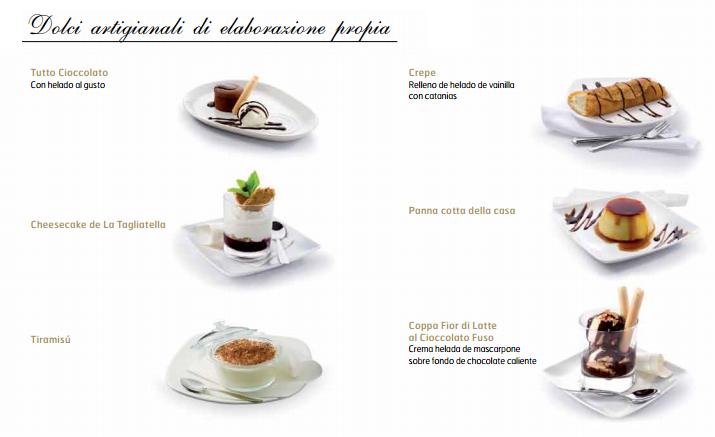 ElTenedor - Fidelización de clientes - cómo vender más postres en el restaurante - carta de postres La Tagliatella