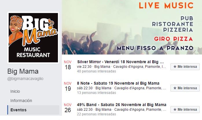 ElTenedor - Fidelización de clientes con música en directo - Restaurante Big Mama Roma