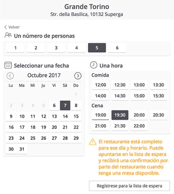 ElTenedor - gestión de restaurantes - gestionar los tiempos de espera de los clientes - lista de espera