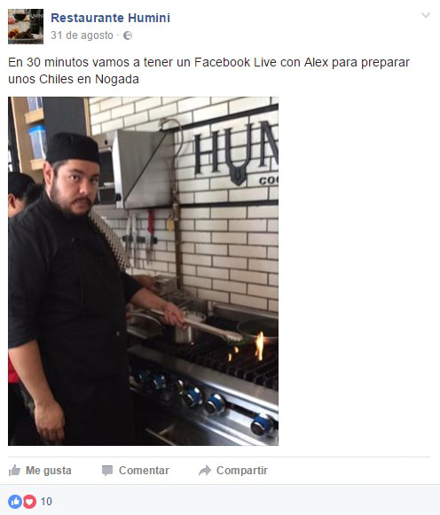 ElTenedor - Marketing para restaurantes con Facebook live