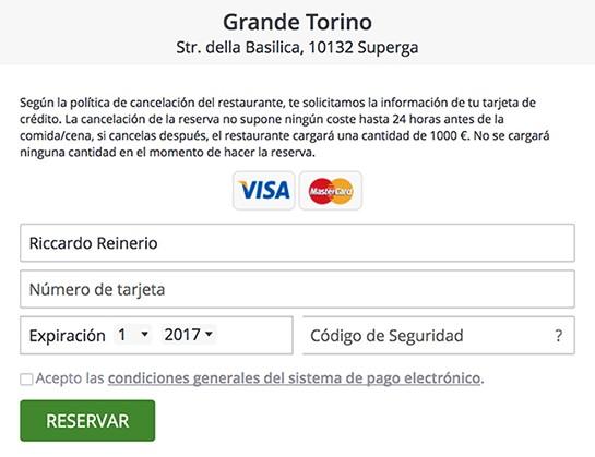 ElTenedor - reducir el no show con sistema de reservas restaurante