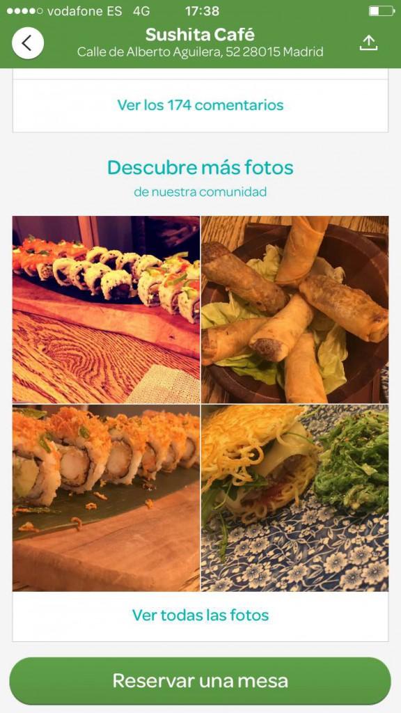 Foodporn marketing gratis para restaurantes app ElTenedor