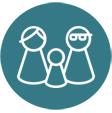 Software restaurante: icono de varios clientes de paso para anotarlos en la base de datos.