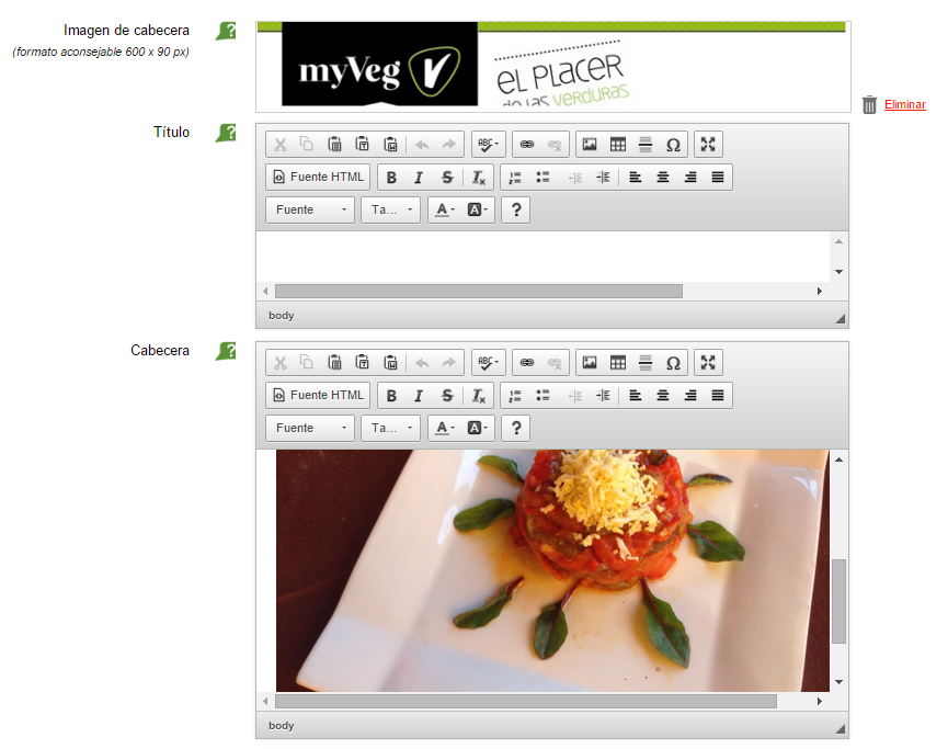Software restaurante: plantilla de email con ElTenedor Manager.