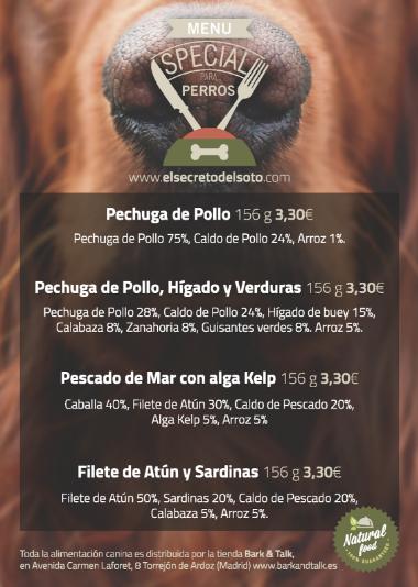 fidelización de clientes con menú para perros en el restaurante EL Secreto de Soto - El Tenedor