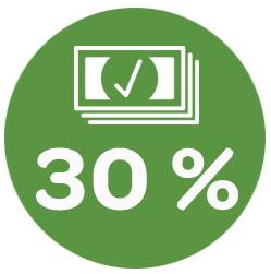 Iens - Verkoop dubbel zoveel tafels dankzij uw reserveringssysteem. grafik 30% meer omzet