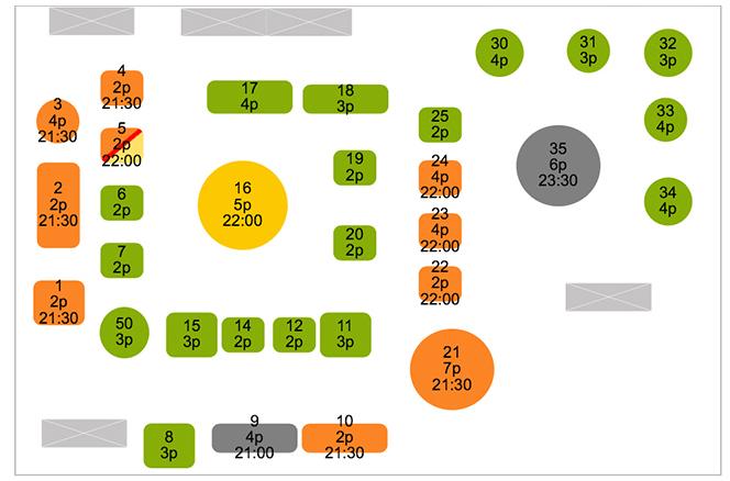 LaFourchette Manager plan de salle numérique