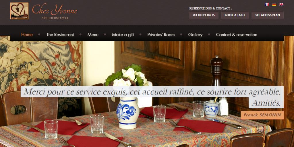Les bases du marketing en ligne pour le restaurant chez yvonne