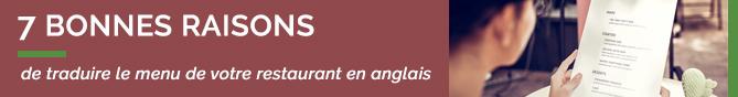 LaFourchette TheFork traduire menu restaurant anglais