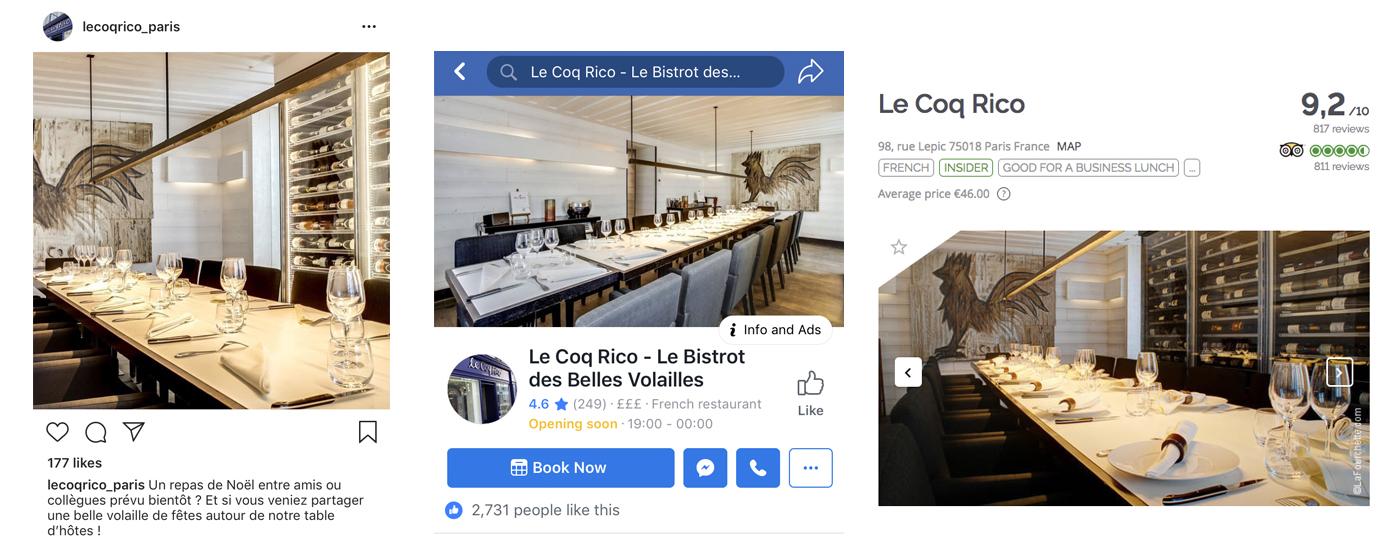 TheFork Chaves de uma boa imagem digital de restaurantes