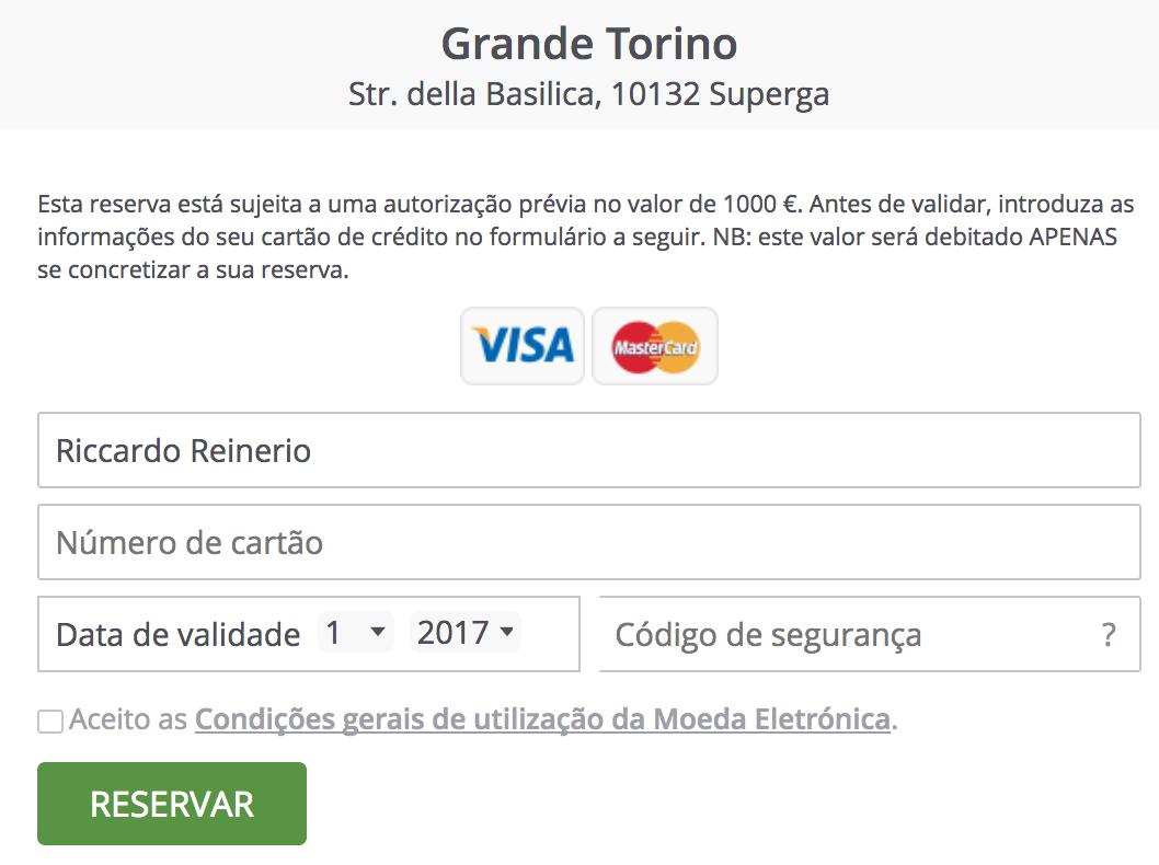 TheFork Software de gestão de restaurantes - credit card