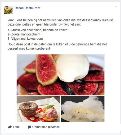 TheFork Fout op het Facebookprofiel van het restaurant gasten aan te trekken