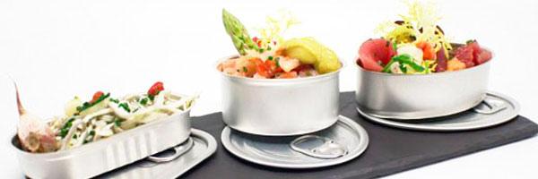 TheFork Gastronomische trends: glazen, conservenblikjes en finger food