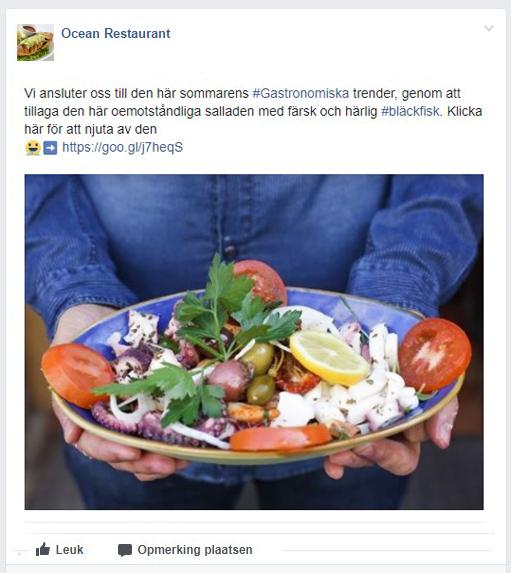 TheFork Misstag på restaurangens profil på Facebook