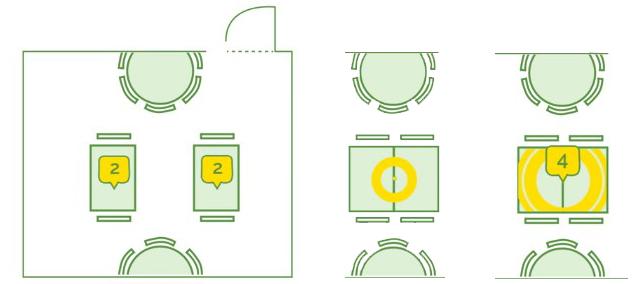 TheFork - programvara för bokningshantering - Optimera beläggningen i din lokal med en digital bordskarta