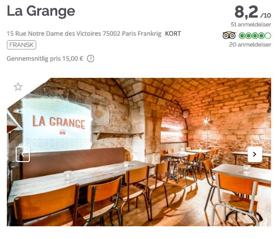 TheFork Sådan finder du de bedste navne til restauranter La Grange
