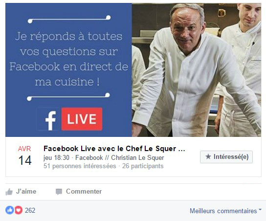 TheFork - Vidéos live de marketing pour restaurants - Facebook live