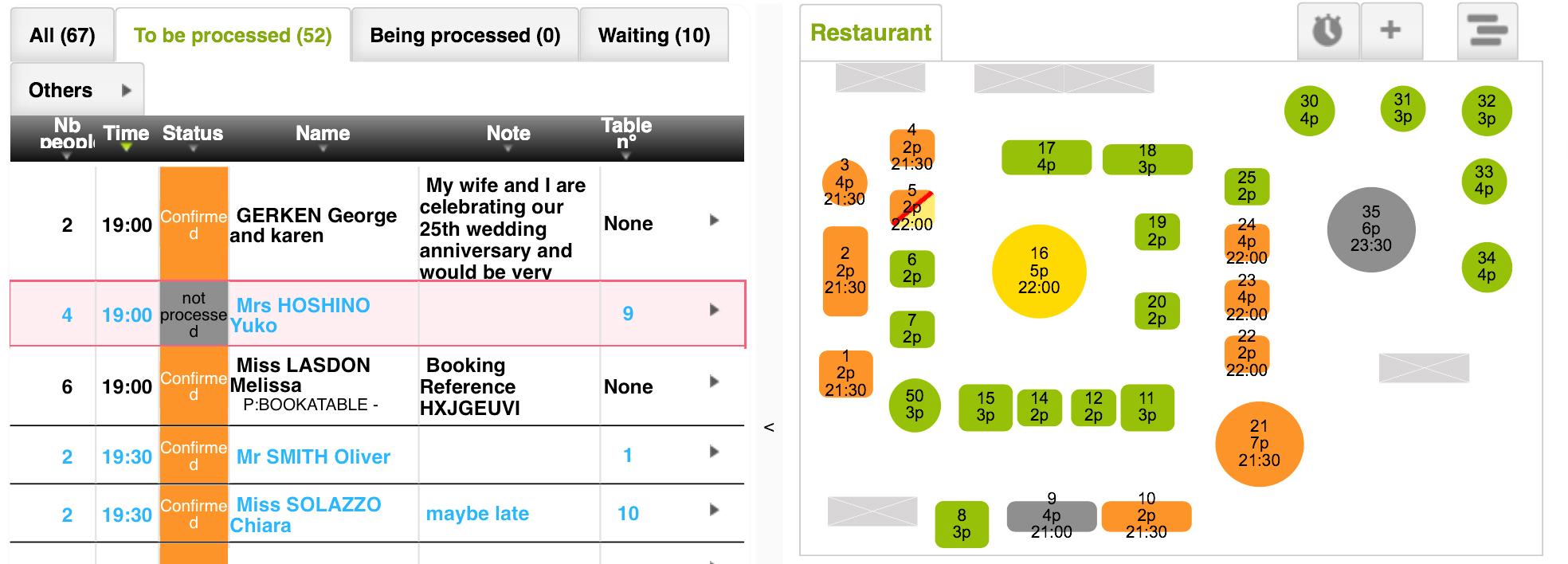 TheFork online reserveringssysteem Voordelen van het hebben van een digitale plattegrond