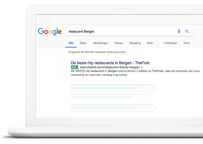 TheFork Waar vindt u nieuwe gasten voor het restaurant met Google Adwords