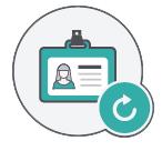 Icône de fiche de client trouver des clients restaurant newsletter