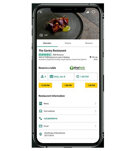 Página de restaurante de Tripadvisor