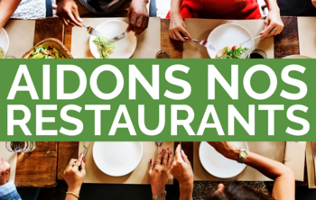 Visuel Aidons Nos Restaurants