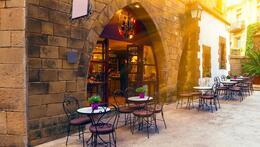 outside terrace restaurant in spain